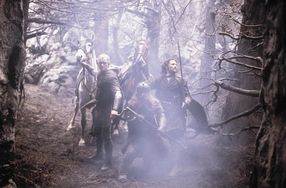 Der Herr der Ringe: Die Rückkehr des Königs mit Viggo Mortensen, Orlando Bloom und John Rhys-Davies