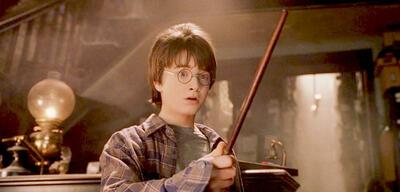 Harry Potter und sein magischer Besen