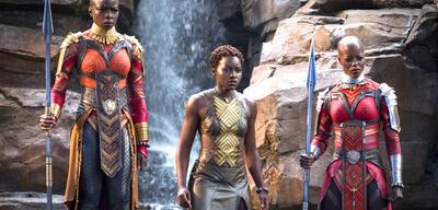 Danai Gurira, Lupita Nyong'o und Florence Kasumba in Black Panther
