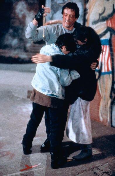 Rocky V mit Sylvester Stallone und Sage Stallone