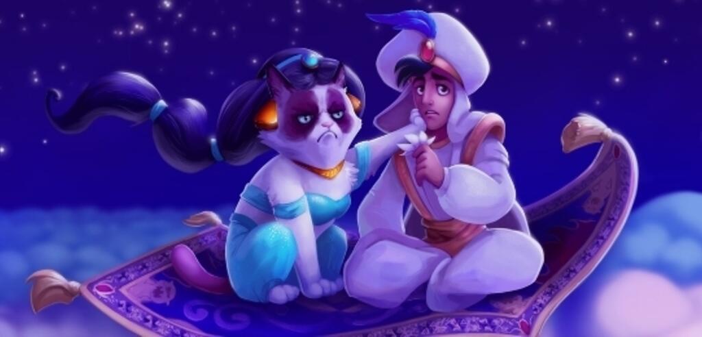 Grumpy Cat und Aladdin