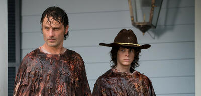 The Walking Dead - Andrew Lincoln und Chandler Riggs