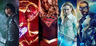 Batwoman, Green Arrow, Flash, Supergirl und White Canary