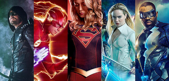 Green Arrow, The Flash, Supergirl, White Canary und Black Lightning
