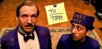 Ralph Fiennes und Tony Revolori in Grand Budapest Hotel