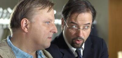 Axel Prahl und Jan Josef Liefers in Tatort: Ruhe sanft