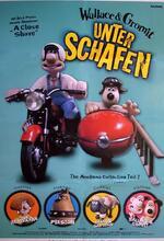 Wallace & Gromit unter Schafen Poster