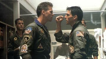 Val Kilmer und Tom Cruise in Top Gun
