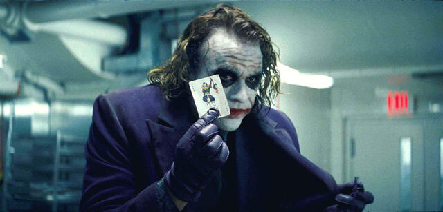 Heath Ledger als Joker in The Dark Knight