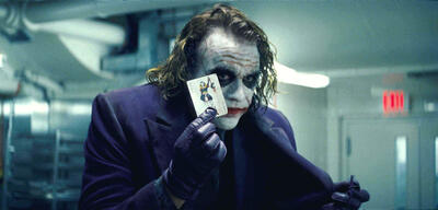 Heath Ledger als Joker in The Dark Knight