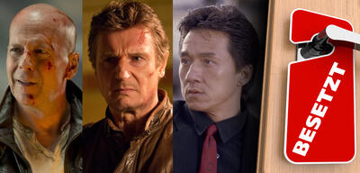 Bruce Willis in Stirb langsam 5 / Liam Neeson in Run All Night / Jackie Chan in Rush Hour