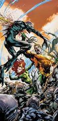 Aquaman und Mera kämpfen gegen The Trench