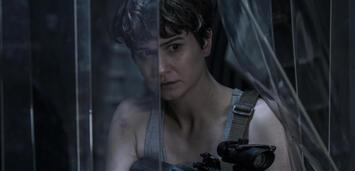 Bild zu:  Katherine Waterston wird auf der Covenant von Aliens überrascht