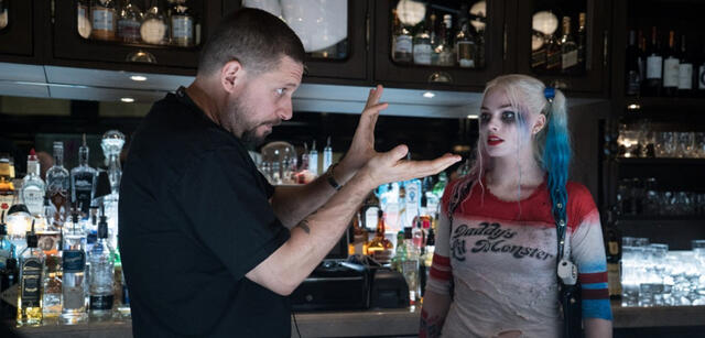 David Ayer am Set von Suicide Squad