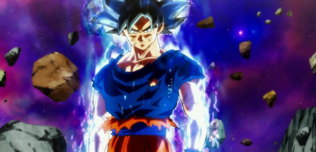 Son-Goku mit Ultra-Instinkt Sign