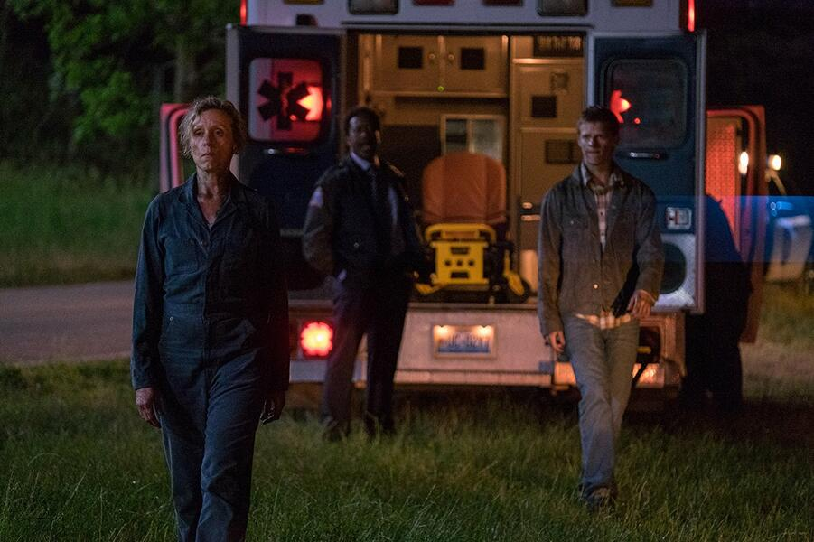 Three Billboards Outside Ebbing, Missouri mit Frances McDormand und Lucas Hedges