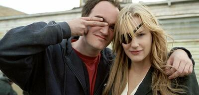 Quentin Tarantino und Daryl Hannah am Set von Kill Bill: Volume 2
