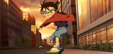 Conan unterwegs auf seinem Skateboard