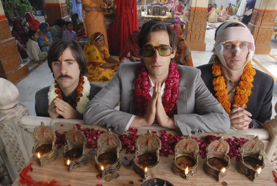 Darjeeling Limited mit Adrien Brody, Owen Wilson und Jason Schwartzman