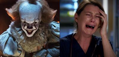 Clown Pennywise in Es und Meredith Grey verzweifelt