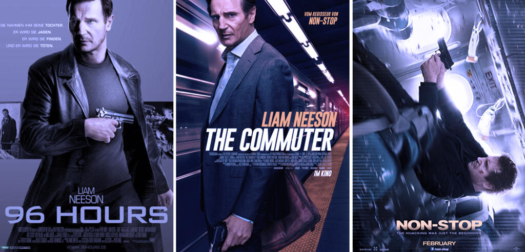 Liam Neeson in Action-Pose