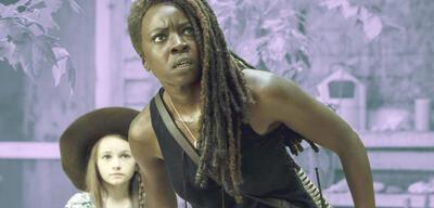 Michonne und Judith in The Walking Dead