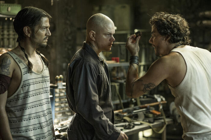 Elysium mit Matt Damon, Sharlto Copley und Wagner Moura