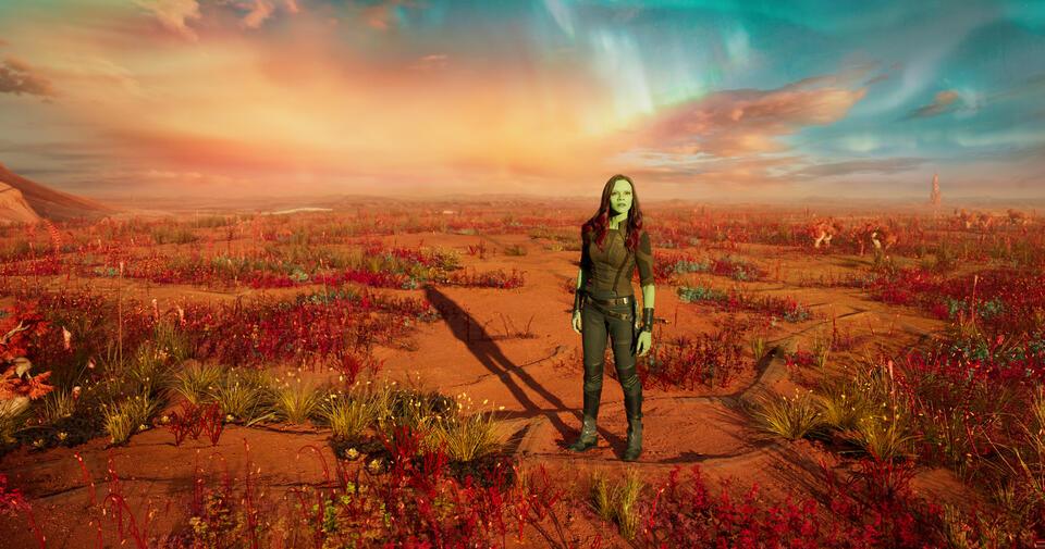 Guardians of the Galaxy Vol. 2 mit Zoe Saldana