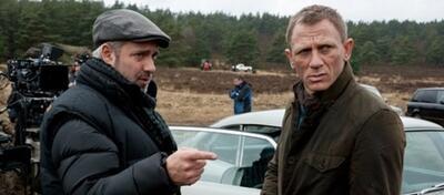 Sam Mendes und Daniel Craig am Set von Skyfall