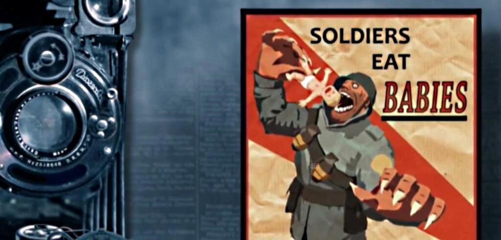 Team Fortress-Propaganda in einer russischen Doku