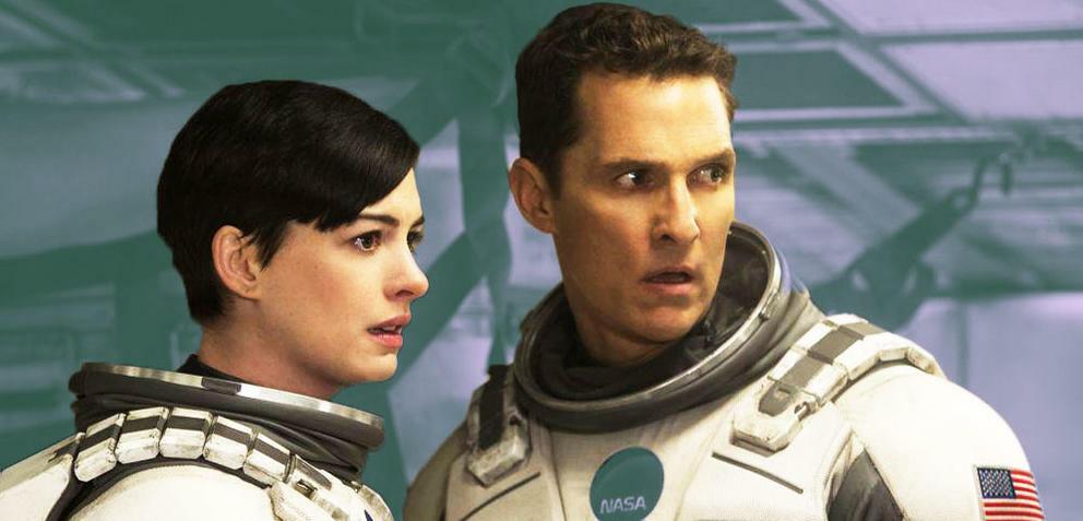 Anne Hathaway und Matthew McConaughey in Interstellar