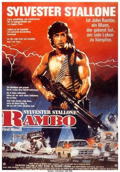Rambo mit Sylvester Stallone
