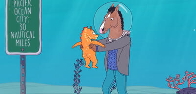 Bojack horseman fish out of water