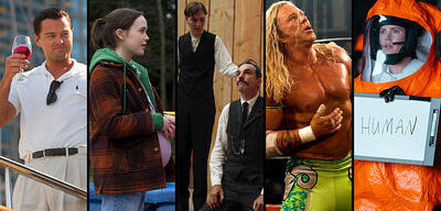 The Wolf of Wall Street, Juno, There Will Be Blood, The Wrestler, Arrival