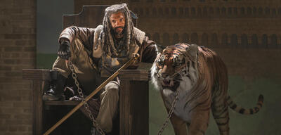 Ezekiel samt Tiger in The Walking Dead