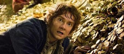 Martin Freeman als Bilbo Beutlin in der Höhle von Smaug