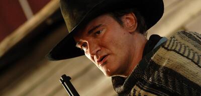 Quentin Tarantino am Set von Django Unchained
