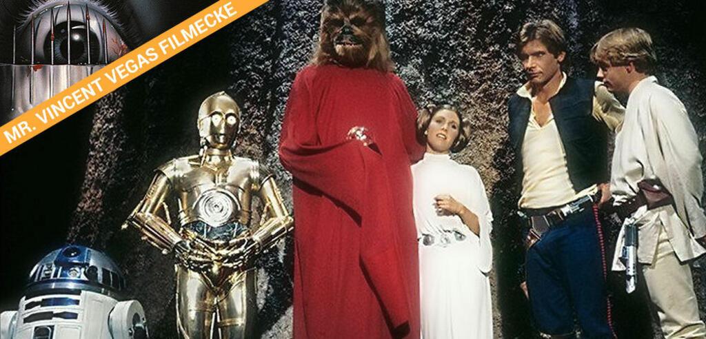 """Chewbacca und seine Freunde feiern den """"Happy Life Day"""" im legendären Star Wars Holiday Special."""