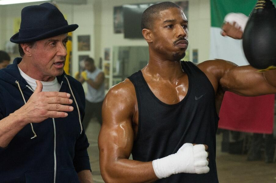 Creed - Rocky's Legacy mit Sylvester Stallone und Michael B. Jordan