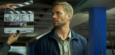 Paul Walker am Set von Fast & Furious 6