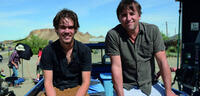 Bild zu:  Ellar Coltrane & Richard Linklater am Set von Boyhood