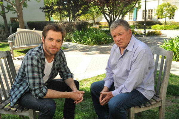 The Captains mit Chris Pine und William Shatner