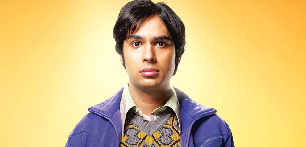 Kunal Nayyar als  Raj Koothrappali in The Big Bang Theory