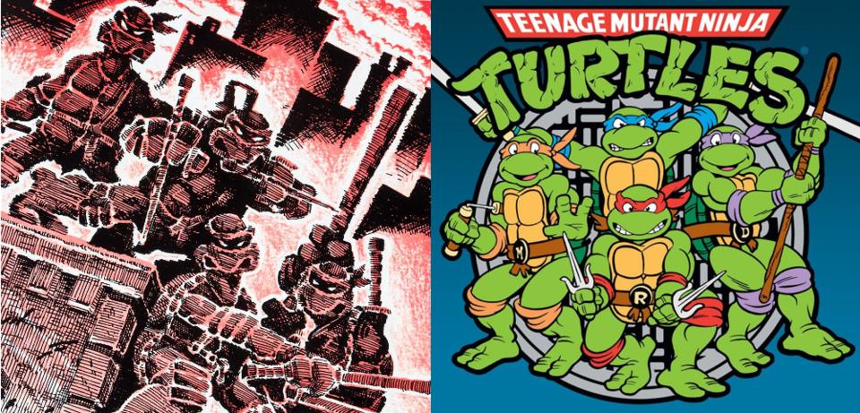 Die Ninja Turtles - Von Untergrund-Comic-Stars zu Kinderzimmer ...