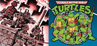 Die Teenage Mutant Ninja Turtles im Comic und als Zeichentrick