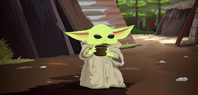 Baby Yoda in South Park