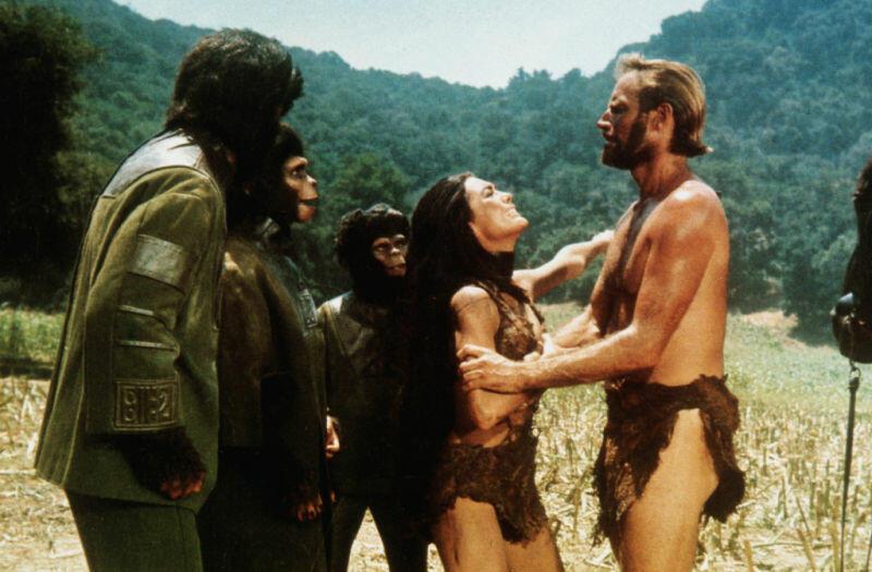 Planet der Affen mit Charlton Heston und Kim Hunter