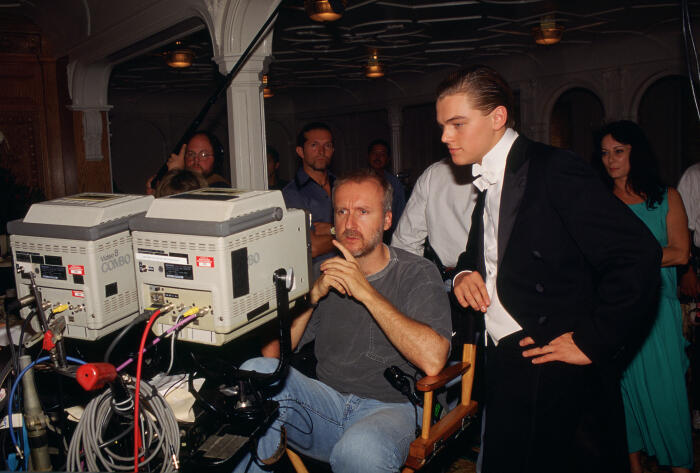 Titanic mit Leonardo DiCaprio und James Cameron