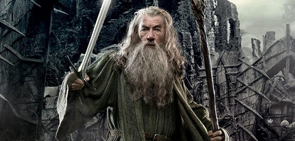 Ian McKellen als Gandalf in Der Hobbit 3