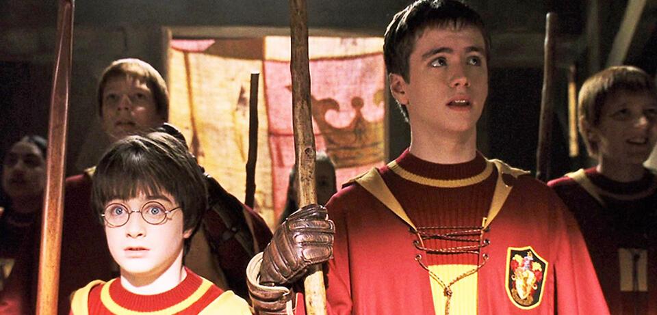 Auf zum Quidditch-Quiz: Harry Potter und Oliver Wood erwarten dich